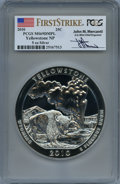 Modern Bullion Coins, 2010 25C Yellowstone Five Ounce Silver, First Strike, Mercanti Signature MS69 Deep Mirror Prooflike PCGS. PCGS Population: ...