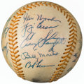 Autographs:Baseballs, Early 1970's Hall of Famers & Stars Multi-Signed Baseball from The Enos Slaughter Collection....