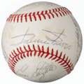 Autographs:Baseballs, 1978 Hall of Famers & Stars Signed Ball form The Enos SlaughterCollection....