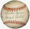 Autographs:Baseballs, 1973 Hall of Fame Weekend Multi-Signed Baseball from The Enos Slaughter Collection....
