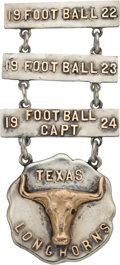Football Collectibles:Others, 1922-24 James B. Marley Texas Longhorns Letterman's Medal....
