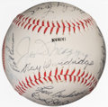 Autographs:Baseballs, Circa 1987 Hall of Famers & Stars Multi-Signed Baseball from The Enos Slaughter Collection....