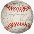 Autographs:Baseballs, 1980's Hall of Famers & Stars Multi-Signed Baseball from TheEnos Slaughter Collection....