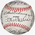 Autographs:Baseballs, 1980's Hall of Famers Signed Baseball from the Enos Slaughter Collection....