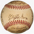 Autographs:Baseballs, 1970's Baseball Greats Multi-Signed Baseball from The EnosSlaughter Collection. ...