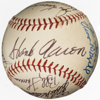 1970's Baseball Greats Multi-Signed Baseball from The Enos Slaughter Collection