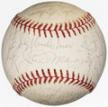 Autographs:Baseballs, Circa 1975 Hall of Famers & Stars Signed Baseball from The EnosSlaughter Collection....