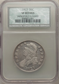 1823 50C -- Improperly Cleaned -- NCS. VF Details. NGC Census: (22/610). PCGS Population: (41/1209). CDN: $110 Whsle. Bi...