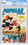 Golden Age (1938-1955):Miscellaneous, Popular Comics #115 Mile High Pedigree (Dell, 9/45) CGC NM+ 9.6 White pages....