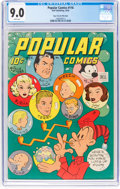 Golden Age (1938-1955):Adventure, Popular Comics #116 Mile High Pedigree (Dell, 1945) CGC VF/NM 9.0 White pages....