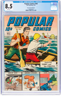 Popular Comics #106 Mile High Pedigree (Dell, 1944) CGC VF+ 8.5 White pages