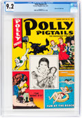 Golden Age (1938-1955):Miscellaneous, Polly Pigtails #19 Mile High Pedigree (Parents' Magazine Institute, 1947) CGC NM- 9.2 White pages....