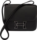 "Luxury Accessories:Bags, Hermès 18cm Black Swift Leather Mini Constance III Bag with Palladium Hardware. N Square, 2010. Condition: 3. 7"" W..."