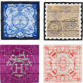 """Luxury Accessories:Accessories, Hermès Set of Four: 90cm Silk Scarves. Condition: 1. 36"""" Width x 36"""" Height. ... (Total: 4 Items)"""