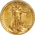 High Relief Double Eagles, 1907 $20 High Relief, Wire Rim AU55 ANACS....