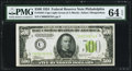 Fr. 2201-C $500 1934 Light Green Seal Federal Reserve Note. PMG Choice Uncirculated 64 EPQ