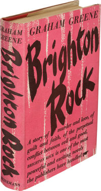 Graham Greene. Brighton Rock. A Novel. London: William Heinemann Ltd, 1938. First Br
