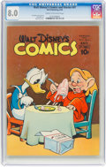 Golden Age (1938-1955):Cartoon Character, Walt Disney's Comics and Stories #47 (Dell, 1944) CGC VF 8.0 Cream to off-white pages....