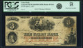 Obsoletes By State:New Hampshire, Concord, NH - Union Bank $3 April 2, 1857 NH-45 G6a. PCGS Fine 15.. ...