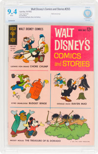 Walt Disney's Comics and Stories #265 (Gold Key, 1962) CBCS NM 9.4 White pages