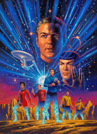 Greg Hildebrandt (American, b. 1939) Star Trek: Year Five cover Acrylic on board 38 x 28 in. S