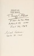 Explorers:Space Exploration, Apollo 11: Buzz Aldrin and Michael Collins Signed Book First on the Moon with Novaspace Certificates of Authentici...