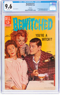 Bewitched #1 File Copy (Dell, 1965) CGC NM+ 9.6 White pages