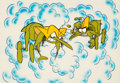 Animation Art:Production Cel, Raid Flying Insect Production Cel with Painted Background (SC Johnson, c. 1970s-80s). ...