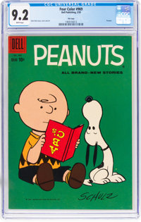 Four Color #969 Peanuts - File Copy (Dell, 1959) CGC NM- 9.2 White pages