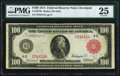 Fr. 1075b $100 1914 Red Seal Federal Reserve Note PMG Very Fine 25