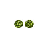 Gemstones: Demantoid Garnet Matched Pair - 7.1 TCW Namibia  ... (Total: 2)