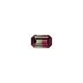 Gems:Faceted, Gemstone: Bi-Color Tourmaline - 6.23 Cts.. California, USA. ...