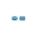Gems:Faceted, Gemstones: Aquamarine Matched Pair - 5.2 TCW