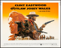 "The Outlaw Josey Wales (Warner Brothers, 1976). Rolled, Very Fine-. Half Sheet (22"" X 28"") Roy Andersen Artwor..."