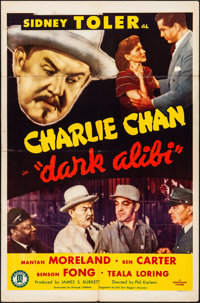 "Dark Alibi (Monogram, 1946). Folded, Fine/Very Fine. One Sheet (27"" X 41""). Mystery"