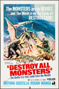 "Movie Posters:Science Fiction, Destroy All Monsters (American International, 1969). Folded, Fine/Very Fine. One Sheet (27"" X 41""). Reynold Brown Artwork. S..."