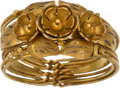 Explorers:Space Exploration, Jewelry: Janet Armstrong's 14K Gold Ring From The Armstrong Family Collection™, CAG Certified....