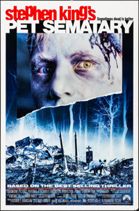 """Pet Sematary & Other Lot (Paramount, 1989). Rolled, Overall: Very Fine. One Sheets (3) (27"""" X 41"""", 27""""..."""