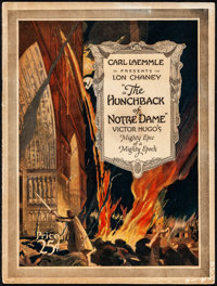 "The Hunchback of Notre Dame (Universal, 1923). Fine+. Souvenir Program (20 Pages, 9"" X 12""). Horror"