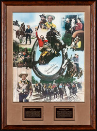 """Gene Autry Limited Edition Print (Nostalgia Merchant, 1982). Mint. Autographed and Framed Poster (Poster: 24"""" X 30..."""