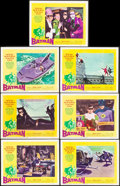 """Movie Posters:Action, Batman (20th Century Fox, 1966). Very Fine. Lobby Cards (7) (11"""" X 14""""). Action.. ... (Total: 7 Items)"""