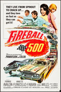 "Movie Posters:Action, Fireball 500 (American International, 1966). Folded, Fine/Very Fine. One Sheet (27"" X 41""). Action.. ..."