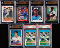 Baseball Cards:Lots, 1985-92 Baseball Greats BGS/PSA Gem Mint Graded Collection (7)....