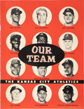 Baseball Cards:Lots, 1955 Rodeo Meats Kansas City Athletics Trading Card Album from TheEnos Slaughter Collection....