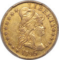 Early Half Eagles, 1795 $5 Small Eagle, S Over D, BD-6, R.5 -- Altered Surfaces -- PCGS Genuine. XF Details....