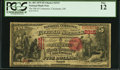 National Bank Notes:Ohio, Cincinnati, OH - $5 1875 Fr. 401 The NB of Commerce Ch. # 2315 PCGS Fine 12.. ...