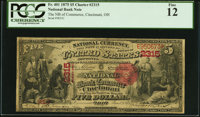 Cincinnati, OH - $5 1875 Fr. 401 The NB of Commerce Ch. # 2315 PCGS Fine 12
