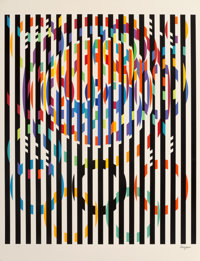 Yaacov Agam (b. 1928) Message of Peace, from Official Arts Portfolio of the XXIVth Olympiad, Seoul
