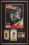 Autographs:Others, 1950's Jackie Robinson Signed Cut Signature Display, PSA/DNA Authentic....