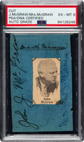 Baseball Collectibles:Others, 1920's John McGraw & Wife Signed Cut Signature. ...